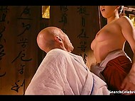 The hottest scenes from erotic Japanese movie with remarkable Asian girl and her fuckers 10