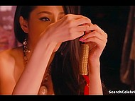 The hottest scenes from erotic Japanese movie with remarkable Asian girl and her fuckers 4