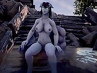 Heroes of Alliance and Horde from World of Warcraft often forget about enmity to have group sex 8