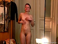 Sensual colleen Lana Cooper shows her pretty body in German movie about sex filming 7