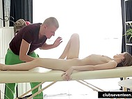 Massage session includes pussy fucking and anal sex that makes chick relaxed and satisfied 3