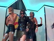 Playful girls dance and take the shower while the bravest have sex at the party 5