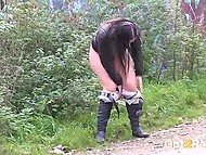 Video compilation with shameless girls who are trying to pee standing up like boys 8