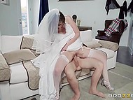 Wistful bride knows end of freedom is near and uses chance to fornicate the last time with tailor 9