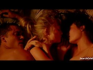 FFM fucking scene without censure from full-length movie 'Love' with Aomi Muyock and Klara Kristin 9