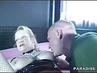 Submissive man ate pussy of German mature with dominant tendencies and then she slapped his cock 7
