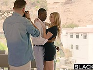 Unmatched chick was going crazy from pleasure getting fucked by black lovelace in front of skilled photographer 3