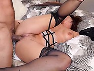 Seductive woman in sexy lingerie enjoys passionate sex and happily swallows sperm 7
