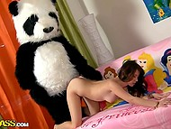Teen grew up and now panda is not only her stuffed toy but also sexual partner 10