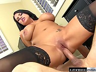 Black-haired Lacie James with juicy breasts is ready to be fucked for tickets to favorite band's concert 8