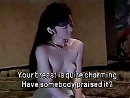 Two scenes of Japanese porn with subtitles with handcuffed girl fucked by pervert and beginning actress sleeping with director 4