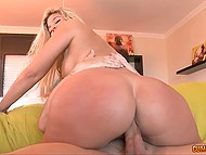 Awesome evening with stunning cutie ended with explosive fucking and strong cumshot over face 10