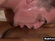 Masseur tried to resist temptation but desire to taste exotic pussy was too alluring 10