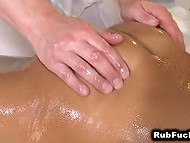 Masseur tried to resist temptation but desire to taste exotic pussy was too alluring 4