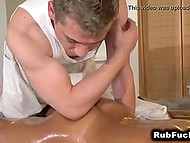 Masseur tried to resist temptation but desire to taste exotic pussy was too alluring 5