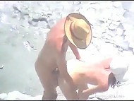 Compilation of videos with couples that have sex on the beach having no idea they are filmed on camera 11