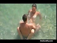 Compilation of videos with couples that have sex on the beach having no idea they are filmed on camera