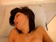 Japanese MILF had to put pencil and album aside because male was eager to fuck 9