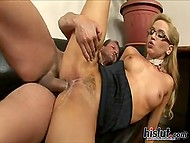 Blonde Aleska Diamond was engaged as personal assistant in exchange for permanent access to her pussy