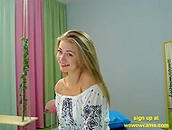 Attractive Latvian teen with charming smile plays with herself for video channel visitors 6