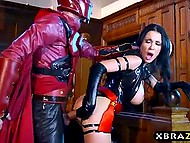 Slovakian pornstar Patty Michova as Psylocke clobbered Magneto and took hold of his massive rod 8