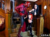 Slovakian pornstar Patty Michova as Psylocke clobbered Magneto and took hold of his massive rod 9