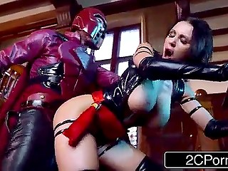 Buxom Psylocke had to do a job on Magneto to savor his imposing fucking device