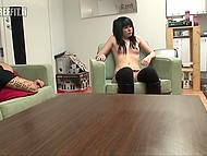 Tattooed bruiser wakes up in time to penetrade both lustful holes of Finnish brunette 4