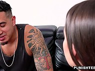 Stepsister saw Latin boy fucking chick and desired to enjoy hardcore action with him 7