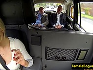Stacked taxi driver knows how to bring a lot of pleasure to passengers in the back seat 4