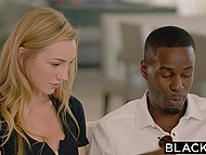 Boyfriend of fetching model Kendra Sunderland dreamed of watching black guy pushing his imposing cock inside her 4