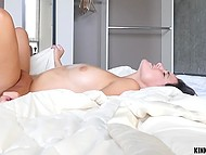 Stepsister saw fellow's robust pecker and couldn't calm down until it visited shaved vagina 9