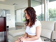 Tricky teen is ready to do everything to pass successfully this tough casting 3