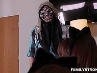 Bestial stepsisters prepare a very special surprise for their innocent stepbrother 4