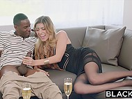 Once girl left home alone, she immediately invited black gentleman to have hot sex 3