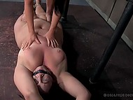 Innocent BBW will never forget such an extreme BDSM humiliation action 9