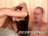 Suntanned colleen didn't want to waste time that's why quickly sucked dick then had sex at the casting 4