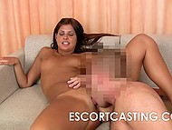 Suntanned colleen didn't want to waste time that's why quickly sucked dick then had sex at the casting 5