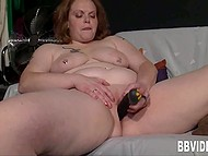 German BBW gladly shows all her talents in front of the camera