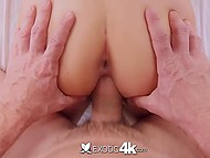 Time has come for excited buddy to penetrate petite girl's pussy after tender cunnilingus 11