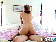 Seductive realtor was showing the house to potential client when between them ran a spark 10