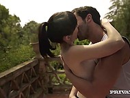 After jogging, alluring French Ava Courcelles took a shower and made love in the open air 4