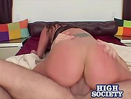 Naughty woman showed her delicious booty to man and he couldn't resist fucking her 8