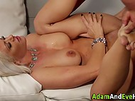 Busty blonde MILF seduces and bounces on FBI agent's cock in order to save her husband from prison 6