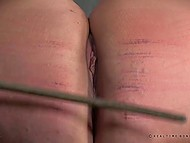 Female came under tough anal punishment and while it was hurting her she had to suffer 10