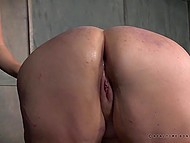 Female came under tough anal punishment and while it was hurting her she had to suffer 7