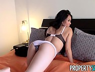 Thai realtor, in order to please fastidious client, shows him closer the bedroom in new apartment 4