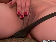 Elderly women in black pantyhose don't forget to pet the kitty from time to time 9