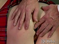 Blonde Victoria Summers took part in BDSM scene voluntarily but schoolgirl was helpless in the hands of pervert 11