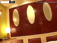 Male with camera rented expensive hotel room to have sex with attractive Japanese babe 4
